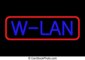 Neon Sign W-Lan
