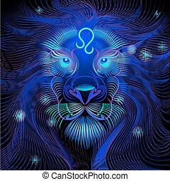 Neon signs of the Zodiac: Leo