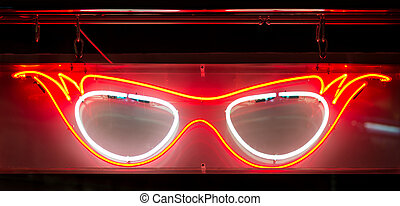 Neon Specs Sign - Neon Glasses Spectacles Sign