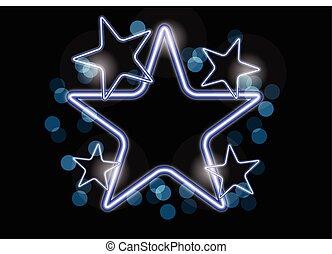 NEON STAR BACKGROUND