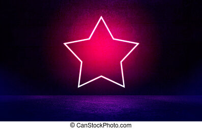 Neon star shape