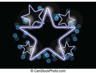 neon, stjärna
