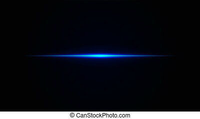 neon straight blue line - Neon straight blue line, artistic...