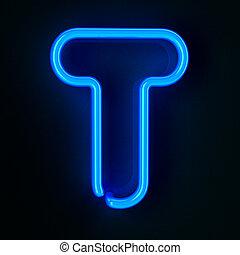 neon, t, levél, aláír