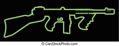 Neon Tommy Gun