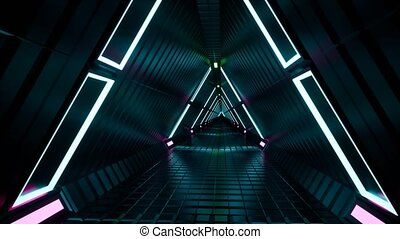 Neon tunnel fluorescent ultraviolet 4k