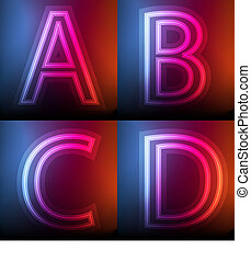 Neon vector background