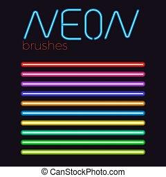 neon vector brush set