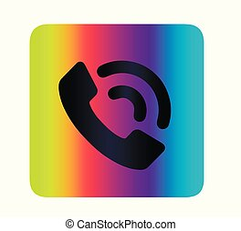 Neon vector Call button for web site. Call tube icon isolated