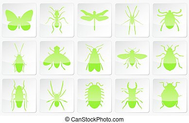 Neon vector insects
