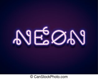 Neon Vector Lettering