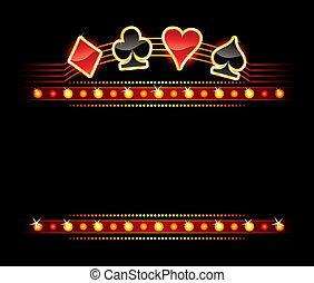 Neon with Card symbols