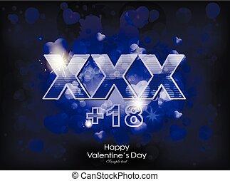 Neon XXX signboard - vector illustration