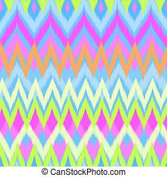 neon zigzag ikat