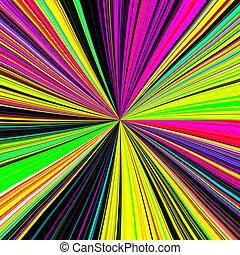 neon, zonnestraal, effect, achtergrond, disco