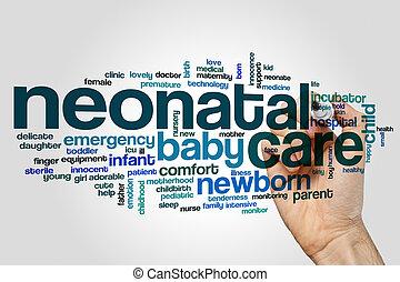 Neonatal care word cloud