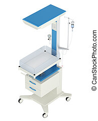Neonatal reanimation and warming table used in obstetrics...