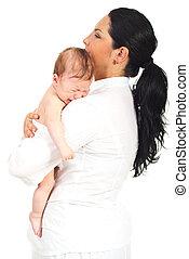 neonato, presa a terra, pianto, madre