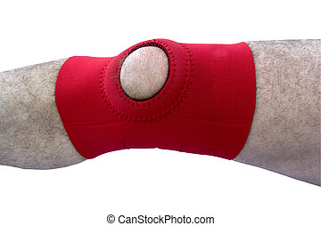 neoprene knee brace isolated