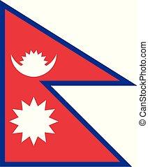nepal , εθνική σημαία