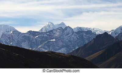 nepal, berge, wandern, camp., führen, himalayas, spur,...