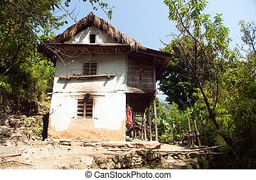 nepal, casa, himalaya, nepal, khumbu, valle