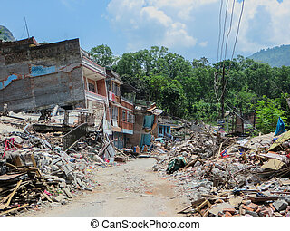 Nepal Earthquake - A photo taken of the destruction of the ...