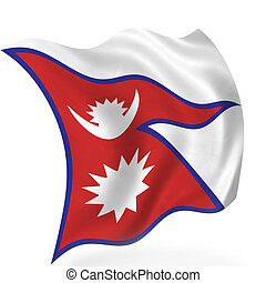 Nepal flag, isolated
