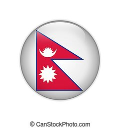 Nepal flag on button