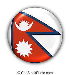 Nepal Flag - World Flag Button Series - Asia - Nepal (With ...