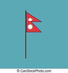 nepal flagg