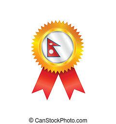 Nepal medal flag