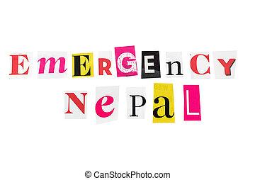 nepal, noodgeval