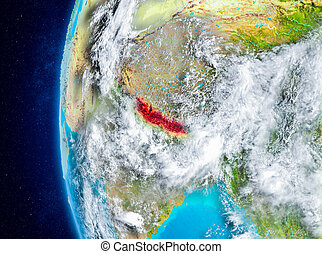 Nepal on Earth from space