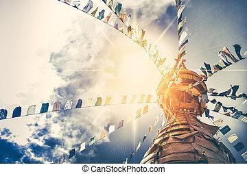 Stupa in Swayambhunath Monkey temple