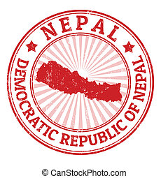 Nepal stamp - Grunge rubber stamp with the name and map of ...
