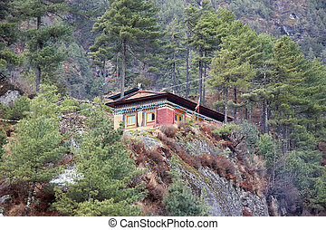 nepalese, himalayas, treck, guesthouse, everest