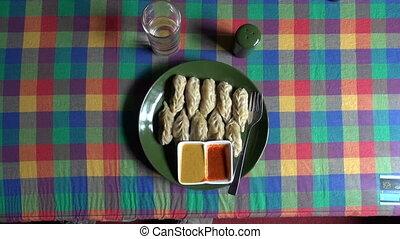 nepalese momo in Katmandu - Nepalese traditional dumpling...