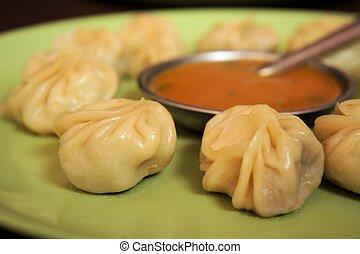 Nepalese traditional dumpling momos, dimsum - Nepalese...