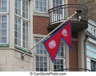 Nepali Flag of Nepal