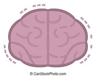 neposkvrněný, dát, osvětlení, mozek, grafické pozadí