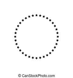 neposkvrněný, grafické pozadí., firma, eps, čerň, zlatý hřeb, 10, znak, vektor, kruh, ilustrace, circle., osamocený
