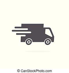 neposkvrněný, podvozek, grafické pozadí, ikona