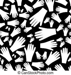 neposkvrněný, ruce, seamless, model, eps10