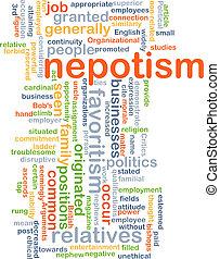 nepotism, concetto, fondo