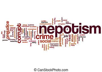 nepotism, palavra, nuvem