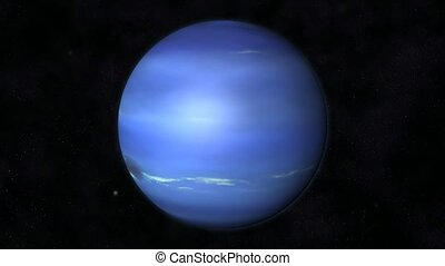 Neptune Animation - Animation of the Planet Neptune