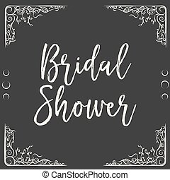neptune - bridal shower card, illustration in vector format