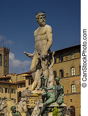 Neptune Fountain in Florence Accademia, Italy