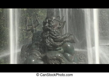 Neptune Fountain - This is a sculture of Neptune in Bailey...